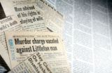 Photo-illustration of news paper clippings for a story. (JAVIER MANZANO/ROCKY MOUNTAIN NEWS)