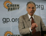 WX102 - ** FILE ** Ralph Nader speaks at a news conference in Reading, Pa. in this July 14, 2007...