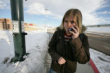 Corinna Peters, 15 and a freshman talks on the phone to her mother as well as the media  about...