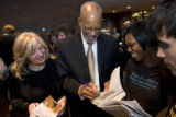 DM0954   LITTLE ROCK NINE+51568  Terrence Roberts, one of the Little Rock Nine, signs an autograph...