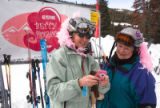 (Keystone, Colo., Feb. 9, 2008) First-timers Carolyn Van Eeckhout (cq, Evergreen, Colo.) and Gail...