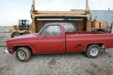 DM0001   Pablo Alcala's 1981 Chrevolet pick-up waits to get crushed at Colorado Auto & Parts...