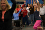 (Littleton, Colo., Feb. 25, 2008) Rehearsal with a choir backing a dance troupe in foreground.  In...
