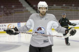 vancouver - FEB 27, 2008  ziemer-s... newest Colorado Avalanche player Peter Forsberg at practice...