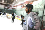 DM0404   Peter Forsberg participates in his first full-team practice since his return to the...