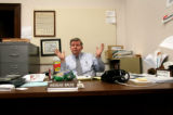 (PG0091) Rep. Douglas Bruce talks to reporters at his office in the State House on Monday, April...