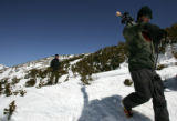 Michael Coors traverses land he wants to open skiers at his proposed Eclipse Ski Area where the...