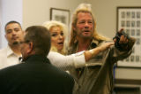 """Dog the Bounty Hunter""  Chapman and his wife Beth Chapman recognize a friend in one of..."
