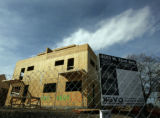 Some townhomes are underconstruction at the corner of Vrain and 32nd Ave. in the Highlands in...