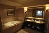 Bathroom in the One-bedroom SuiteThursday morning, March 27, 2008, Denver. The Ritz Carlton has...