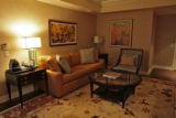 Living room in the One-bedroom SuiteThursday morning, March 27, 2008, Denver. The Ritz Carlton has...