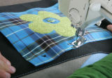 Pin the square onto the bag.  Sew all the edges.   If the bag is too small or stiff to get the...
