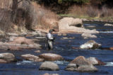 Ed Miller (cq) of Monument fishes the South Platte River near the town of North Fork Monday April...