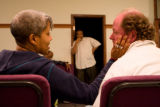 (Aurora, Colorado, April 1, 2008) Jeffrey Nickelson (center) directs Rene Marie (cq, left, as...