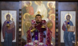 DM0040   Father Radovan Petrovic conducts the service for St. John the Baptist Serbian Orthodox...