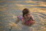 DM0077   Vienna Danna, 3, swims at the Recreation Center at Eastridge  in Highlands Ranch, Colo....