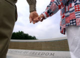 (Washington D.C. - SHOT 5/27/2004) Army Air Corps veteran Don Robinson (left), 78, of Boulder...