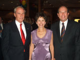 (L-R) Gala chairpersons Bruce Benson and Elaine Gantz Berman with outgoing Superintendent Jerry...