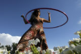 DM0197  Melody Moezzi, an Iranian American, Hula-Hooped for more than five hours to bring...