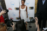 Alfre Woodard actress poses at Mescal Restaurant in Denver, Colo. August 24, 2008.  They gathered...