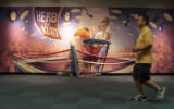 B3AE_SOUTH-- A mural in the a hallway at Southwest Airlines corporate headquarters depicts the...
