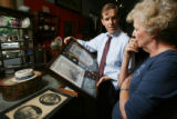 Steve Silverman, regional attorney for the U.S. Dept. of Agriculture, shows antique expert Sally...