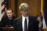 The Jon Phillips trial continues as Judge John Madden IV (cq) listens to the defense's closing...
