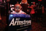 Reagan, 10 month was campaign for Wil Armstrong at the Fox and Hound in Centennial, Colo, on,...