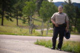 (Golden, Colorado, Aug. 13, 2008) State park ranger Dominique Marks at Golden Gate Canyon State...