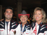 Colorado delegates Gabe Schwartz and Sharon Johnson, both of Denver, and Keri Brehm of Castle...