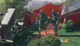 A Hazmat team at the McCain campaign headquarters in Centennial, Colorado on Thursday afternoon,...