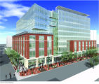 An artist's rendering of the EPA Region 8 Headquarters at 1595 Wynkoop Street in Denver. According...