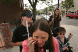 MJM126  Executive director for Colorado Center for the Blind, Julie Deden (cq), center, is...