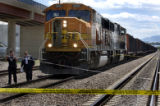 (DENVER, Colo., June 11, 2004)  Investigators from the Denver Police and Burlington Northern Sante...