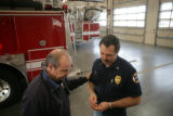 Bob Herdt, Battalion Chief (cq) who was a friend of Brian Kopp (cq) for the past eight years talks...