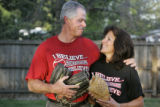Pam and Ron Keiter (cq) are the parents of Kami Keiter, All-American softball pitcher for the...