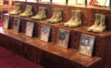 Memorial service for six  soldiers from the 2nd Brigade Combat Team killed in Iraq from January...