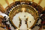 (0007) The Legacy High School Choirs sing Christmas Carols at the Capitol in Denver., Colo., on...
