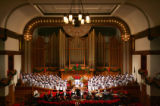 (0775) The Trinity Chancel Choir performs at Sunday service at Trinity United Methodist Church in...