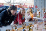From left to right Laurie Chahbandour, Isabelle Desjardins (5) and Claire Chahbandour (5) of...
