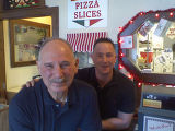 Bob, left, and Nick Quintana of li' nicks pizza, which starts its 31st year this year.  gary...