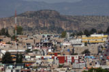 The foothill town of Santiago Papasquiaro, Durango in Mexico one of the many towns inhabited by...
