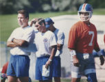 Mike Shanahan 1995. Denver Bronco offensive coordinator Gary Kubiak, left, head coach Mike...