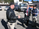 Boulder County Sheriff Joe Pelle briefing the media outside the Nederland Community Center.  Kevin...