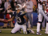 (0227) Vincent Jackson reacts after nearly scoring in the second quarter of the Denver Broncos...