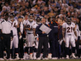 (0244) Mike Shanahan in the second quarter of the Denver Broncos against the San Diego Chargers at...
