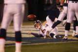 (1318) Jay Cutler runs in for a touchdown in the fourth quarter of the Denver Broncos against the...