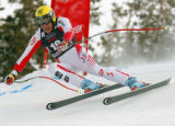DM0254  BirdsOfPrey56022 Famed Austrian ski racer Hermann Maier competes during the Men's Downhill...