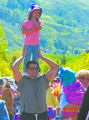 Paul Conrad Aspen Times file Bryan Sax of Aspen carries hi daughter Zaya, then 4, during the...