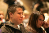 0035 Jon Griebenew, brother of Dan Griebenew who was shot, listens to Arvada Police Chief during...